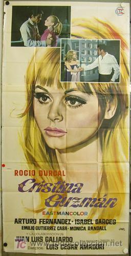 DP06 CRISTINA GUZMAN ROCIO DURCAL POSTER ORIGINAL 3 HOJAS 100X205 ESTRENO (Cine - Posters y Carteles - Clasico Español)