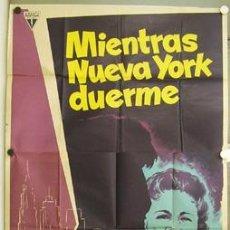 Cine: DP02 MIENTRAS NUEVA YORK DUERME FRITZ LANG MAC POSTER ORIGINAL 3 HOJAS 100X205 ESTRENO LITOGRAFIA. Lote 10363962
