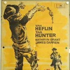 Cine: DP56 EL SALARIO DE LA VIOLENCIA PHIL KARLSON TAB HUNTER POSTER ORIGINAL 3 HOJAS 100X205 LITOGRAFIA. Lote 11923413
