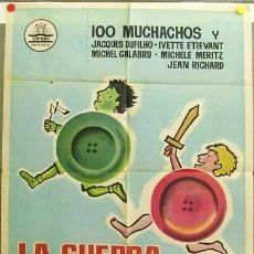Cine: DQ15 LA GUERRA DE LOS BOTONES YVES ROBERT CIFESA POSTER ORIGINAL 70X100 ESTRENO. Lote 11339615