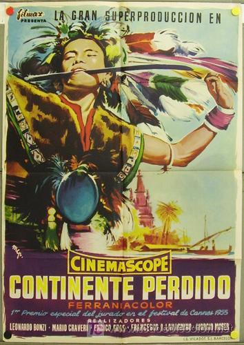 YE18D CONTINENTE PERDIDO DOCUMENTAL ITALIANO POSTER ORIGINAL 70X100 ESTRENO (Cine - Posters y Carteles - Documentales)