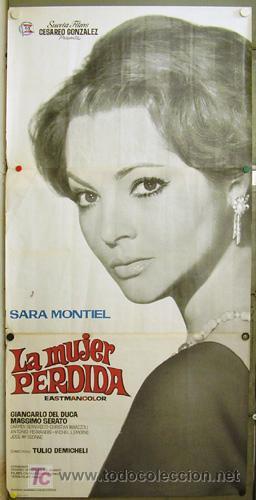 E007 LA MUJER PERDIDA SARA MONTIEL INMA DE SANTIS POSTER ORIGINAL 3 HOJAS 100X205 ESTRENO (Cine - Posters y Carteles - Clasico Español)