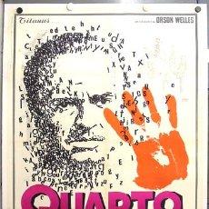 Cine: E052D CIUDADANO KANE ORSON WELLES POSTER ITALIANO 100X140 ENTELADO LITOGRAFIA. Lote 20683574
