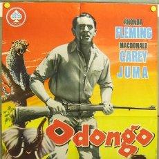 Cine: DQ78 ODONGO RHONDA FLEMING MACDONALD CAREY POSTER ORIGINAL 70X100 ESTRENO. Lote 8900704