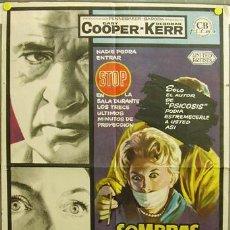 Cine: DQ74 SOMBRAS DE SOSPECHA GARY COOPER DEBORAH KERR MAC POSTER ORIGINAL 70X100 ESTRENO. Lote 11474310