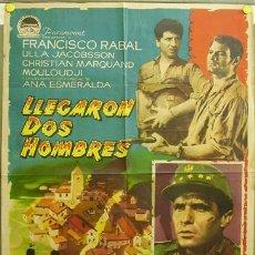 Cine: DQ63 LLEGARON DOS HOMBRES FRANCISCO RABAL ANA ESMERALDA E. F. ARDAVIN POSTER ORIGINAL 70X100 ESTRENO. Lote 8901064