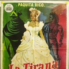 Cine: DQ61 LA TIRANA PAQUITA RICO POSTER CIFESA ORIGINAL ESPAÑOL 70X100 ESTRENO. Lote 8901216