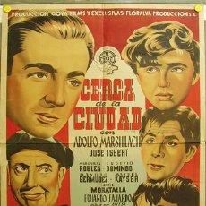 Cine: DQ92 CERCA DE LA CIUDAD ADOLFO MARSILLACH JOSE ISBERT DOS POSTER ORIGINAL ESPAÑOL 70X100 LITOGRAFIA. Lote 11848571
