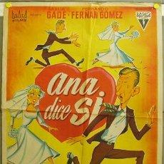 Cine: DQ77 ANA DICE SI FERNANDO FERNAN GOMEZ ANALIA GADE SOLIGO POSTER ORIGINAL 70X100 ESTRENO LITOGRAFIA. Lote 18127578