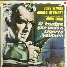Cine: DR00 EL HOMBRE QUE MATO A LIBERTY VALANCE JOHN WAYNE FORD STEWART MCP POSTER ORIGINAL 70X100 ESTRENO. Lote 16592906