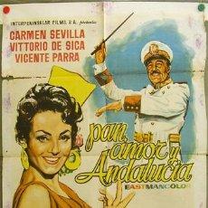 Cine: DQ29 PAN AMOR Y ANDALUCIA CARMEN SEVILLA VITTORIO DE SICA RUMBO POSTER ORIGINAL 70X100 ESTRENO. Lote 8910121