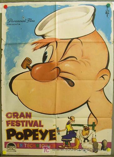 DQ25 GRAN FESTIVAL DE POPEYE DGZ POSTER ORIGINAL 70X100 ESTRENO (Cine - Posters y Carteles - Infantil)