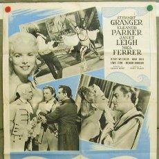 Cine: DR09 SCARAMOUCHE STEWART GRANGER JANET LEIGH ELEANOR PARKER POSTER ORIGINAL FRANCES 60X80. Lote 11955032