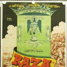 Cine: DR52 RAZA FRANCISCO FRANCO GUERRA CIVIL POSTER ORIGINAL ESTRENO 70X100 LITOGRAFIA ENTELADO. Lote 16105118