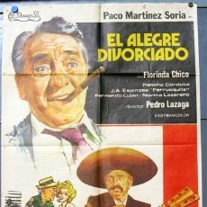 Cine: EL ALEGRE DIVORCIADO PACO MARTINEZ SORIA POSTER ORIGINAL ESTRENO70 X 100 1975. Lote 9874572