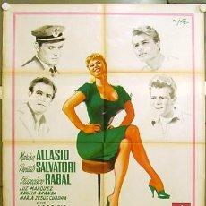 Cine: RY14D MARISA LA CIVETTA MARISA ALLASIO FRANCISCO RABAL BOLOGNINI POSTER ORIGINAL ITALIANO 100X140. Lote 267911099