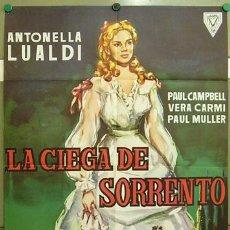 Cine: DS37 LA CIEGA DE SORRENTO ANTONELLA LUALDI POSTER ORIGINAL 70X100 ESTRENO. Lote 8986286