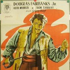 Cine: ZL05D JUSTICIA CORSA DOUGLAS FAIRBANKS JR. JANO POSTER ORIGINAL 70X100 ESTRENO LITOGRAFIA. Lote 18291789