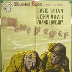 Cine: DT70 DIA D HORA H DAVID BRIAN JOHN AGAR POSTER ORIGINAL 70X100 ESTRENO LITOGRAFIA. Lote 11244428