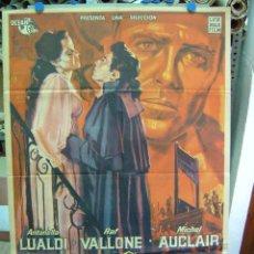 Cine: ANDREA CHENIER - ANTONELLA LUALDI, RAF VALLONE - LITOGRAFIA - CARTEL ARGENTINO. Lote 26895695