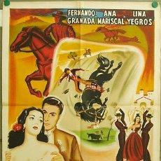 Cine: DT13 VERTIGO FERNANDO GRANADA ANA MARISCAL LINA YEGROS POSTER FRANCES ORIGINAL 60X80 LITOGRAFIA. Lote 15863582