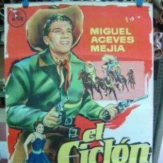 Cine: EL CICLON - LITOGRAFIA - MIGUEL ACEVES MEJIA - AÑO 1959. Lote 27207169
