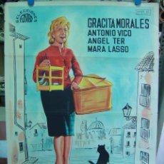 Cine: LA CHICA DEL GATO - LITOGRAFIA - AÑO 1962. Lote 12774494