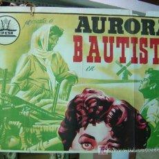 Cine: MEDIO CARTEL DE CINE - AURORA BAUTISTA - LITOGRAFIA. Lote 27207175