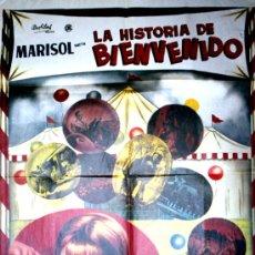 Cine: LA HISTORIA DE BIENVENIDO (CARTEL ORIGINAL MEXICANO) MARISOL. Lote 19338895