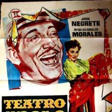 Cine: TEATRO APOLO 1961 (CARTEL ORIGINAL LITOGRAFIA DE JANO) JORGE NEGRETE Y MARIA DE LOS ANGELES MORALES. Lote 15912750