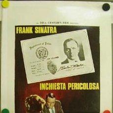 Cine: DX84 EL DETECTIVE FRANK SINATRA POSTER ORIGINAL 33X70 ITALIANO. Lote 9150056