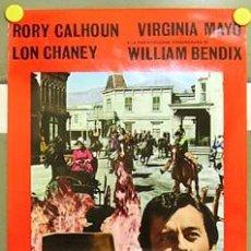Cine: DX62 LA FURIA DE LOS JOVENES RORY CALHOUN VIRGINIA MAYO POSTER ORIGINAL 33X70 ITALIANO. Lote 9143896