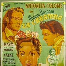 Cine: EA89 MARIA ANTONIA LA CARAMBA ANTOÑITA COLOME TOROS POSTER ORIGINAL ESTRENO 70X100 LITOGRAFIA. Lote 16153867