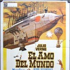 Cine: EB73 EL AMO DEL MUNDO VINCENT PRICE JULIO VERNE POSTER ORIGINAL 70X100 ESTRENO. Lote 10847039