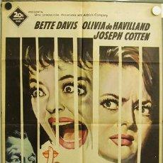 Cinema: EB92 CANCION DE CUNA PARA UN CADAVER BETTE DAVIS OLIVIA DE HAVILLAND MATAIX POSTER 70X100 ESTRENO. Lote 9245747