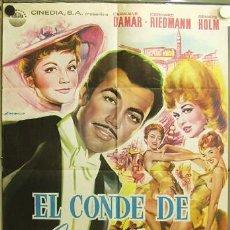 Cine: EB93 EL CONDE DE LUXEMBURGO GERHARD RIEDMANN RENATE HOLM POSTER ORIGINAL 70X100 ESTRENO. Lote 9245781