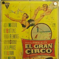 Cine: EB98 EL GRAN CIRCO VICTOR MATURE SOLIGO POSTER ORIGINAL 70X100 ESTRENO LITOGRAFIA. Lote 12079968