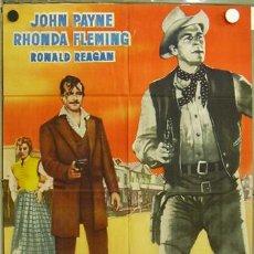 Cine: EB87 EL JUGADOR RONALD REAGAN JOHN PAYNE RHONDA FLEMING POSTER ORIGINAL 70X100 ESTRENO. Lote 10815188