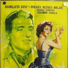 Cine: EC45 TRES ANGELITOS NEGROS MARUJITA DIAZ MIGUEL ACEVES MEJIA POSTER ORIGINAL 70X100 ESTRENO. Lote 9254737