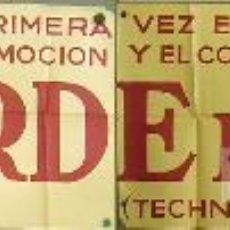 Cine: EC79 TARDE DE TOROS ANTONIO BIENVENIDA DOMINGO ORTEGA ENRIQUE VERA POSTER ORG ESTRENO GIGANTE 64X352. Lote 11709080