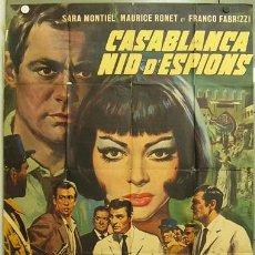 Cine: EC78 NOCHES DE CASABLANCA SARA MONTIEL POSTER ORIGINAL FRANCES 120X160 . Lote 9258270