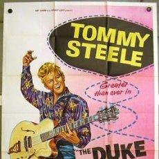 Cine: TU45D THE DUKE WORE JEANS TOMMY STEELE POSTER ORIGINAL INGLES 3 HOJAS 100X205 LITOGRAFIA. Lote 11785218