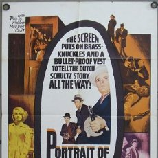 Cine: YW24D PORTRAIT OF A MOBSTER RAY DANTON VIC MORROW POSTER ORIGINAL AMERICANO 70X105. Lote 9295075
