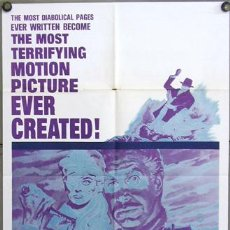 Cine: RE93D DIARY OF A MADMAN VINCENT PRICE POSTER ORIGINAL AMERICANO 70X105. Lote 10847029
