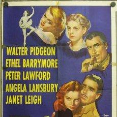 Cine: YU54D EL DANUBIO ROJO WALTER PIDGEON ETHEL BARRYMORE JANET LEIGH POSTER ORIGINAL AMERICANO 70X105. Lote 9438584