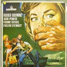 Cine: FB95 RIFIFI EN AMSTERDAM ROGER BROWNE EURO SPY POSTER ORIGINAL 70X100 ESTRENO. Lote 9481612