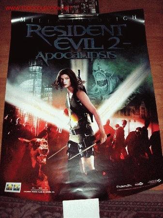 POSTER DE LA PELICULA RESIDENT EVIL 2 NUEVO 60 X 80 CMS (Cine - Posters y Carteles)
