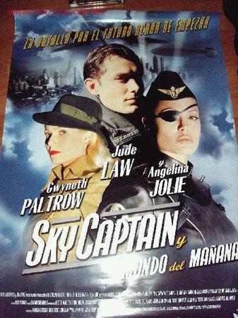 POSTER DE LA PELICULA SKYCAPTAIN, Y EL MUNDO DEL MAÑANA 68 X 98 CMS (Cine - Posters y Carteles)