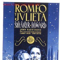 Cine: CARTEL CINE ROMEO Y JULIETA AÑOS 30-40 , ANTIGUO , ENTELADO , ORIGINAL. Lote 26530178