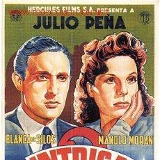 Cine: CARTEL CINE INTRIGA 1942 JULIO PEÑA. Lote 15746584